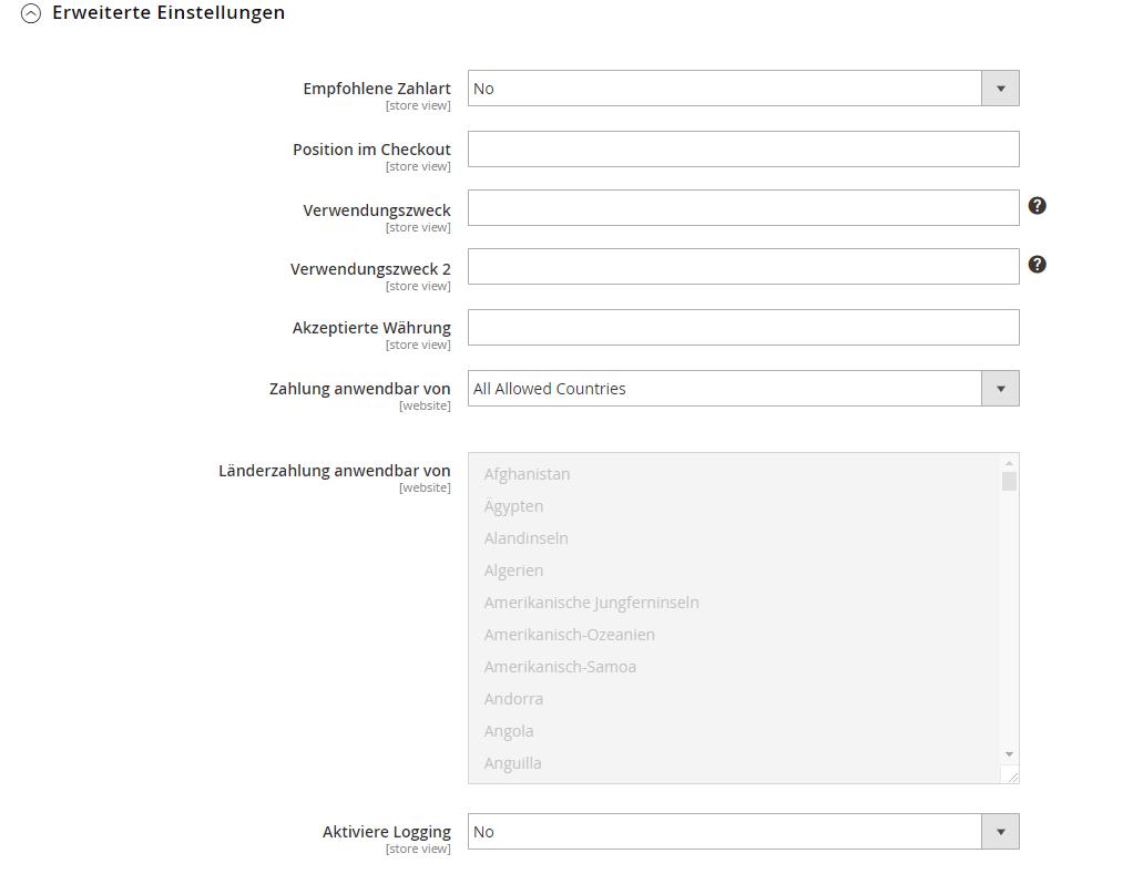 Integrationshandbuch Sofort - Magento 2